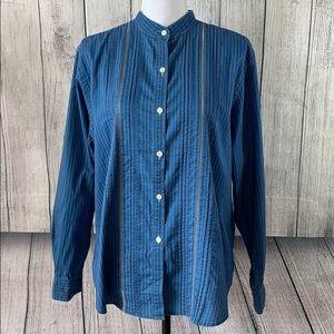 Lauren Ralph Lauren Button Front Shirt sz 16